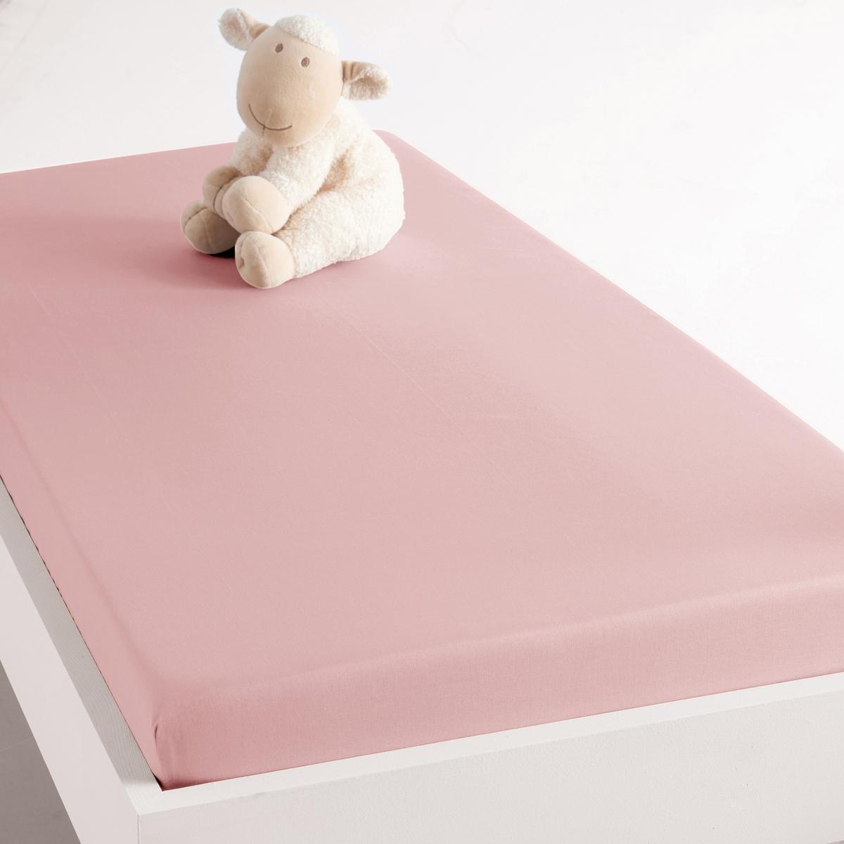 Простыня натяжная для кроватки грудного ребенка из биохлопка