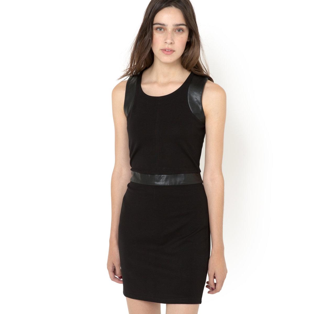 Платье без рукавов RENSHY платье двухцветное из трикотажа милано
