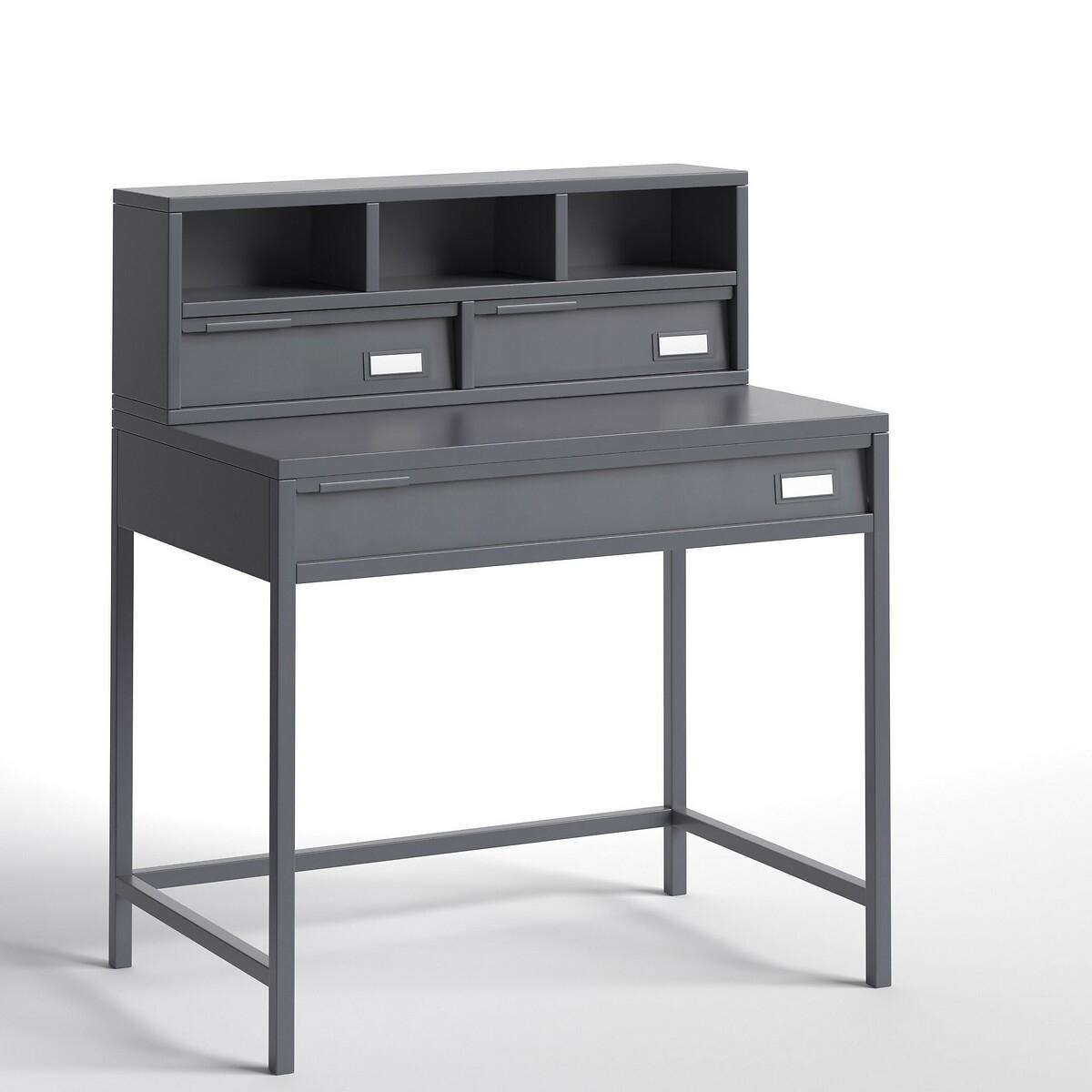 Стол LaRedoute Письменный металлический Hiba единый размер серый