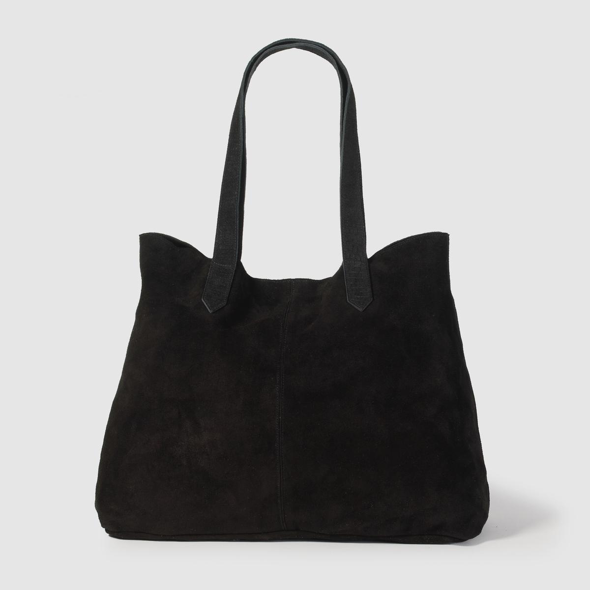 Сумка кожанаяПреимущества : кожаная сумка с 2 ручками из рельефной кожи.<br><br>Цвет: черный