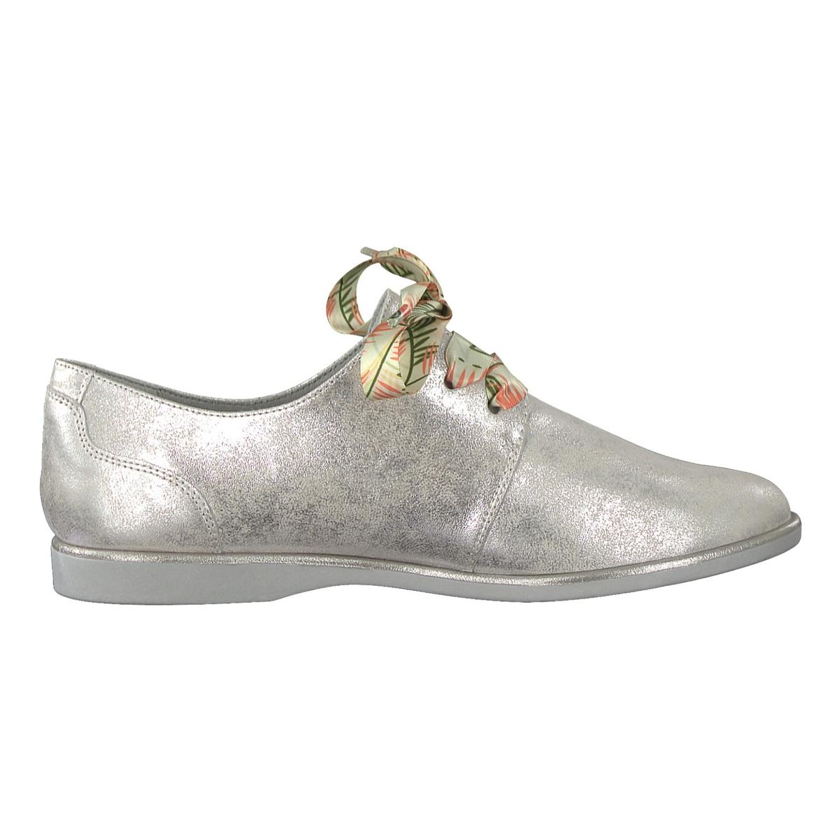 Ботинки-дерби кожаные на оригинальной шнуровке Alena