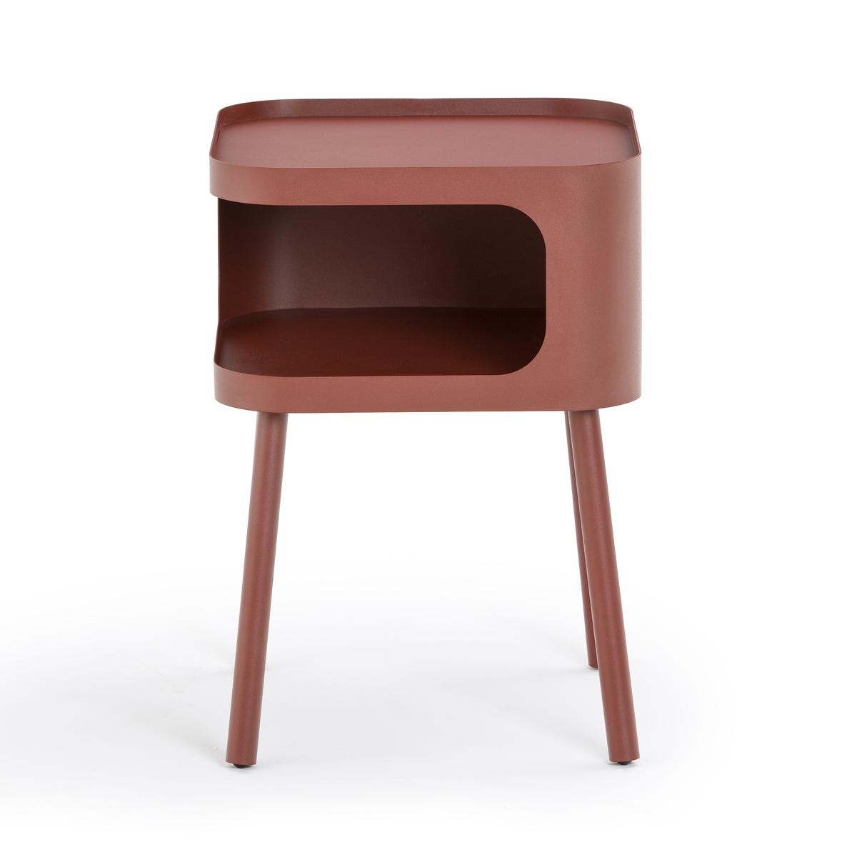 Столик La Redoute Прикроватный из металла Malakou единый размер красный