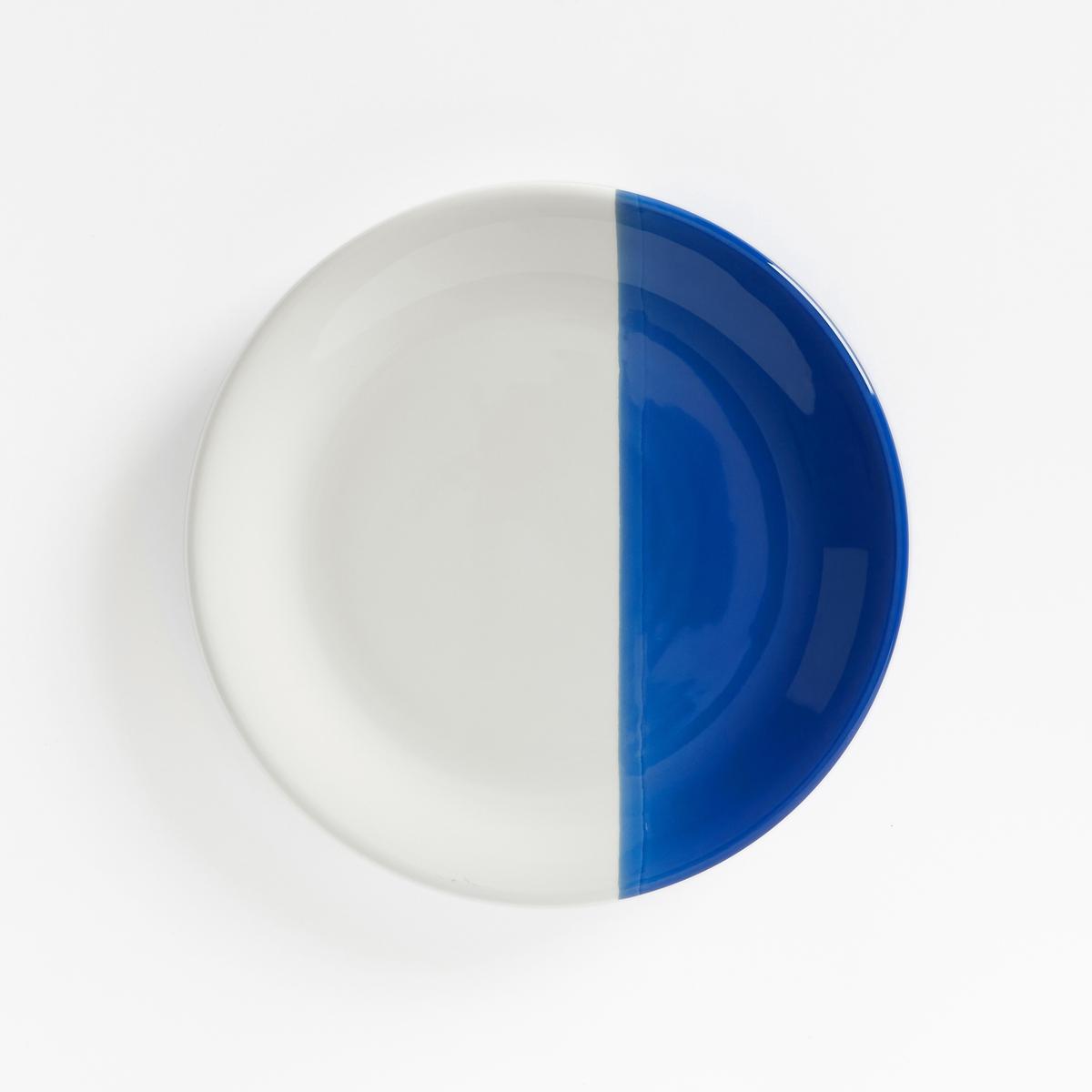 4 тарелки десертные из фаянса ZALATOОписание:Двухцветные десертные тарелки из фаянса с оригинальным дизайном . Каждая тарелка разделена цветом на 2 части.Описание десертных тарелок ZALATO :Комплект из 4 десертных тарелок из фаянса Размеры десертных тарелок ZALATO :Диаметр : 21,2 см Уход :Подходят для микроволновой печи и посудомоечной машины<br><br>Цвет: белый/ зеленый,белый/ розовая пудра,белый/ синий<br>Размер: единый размер