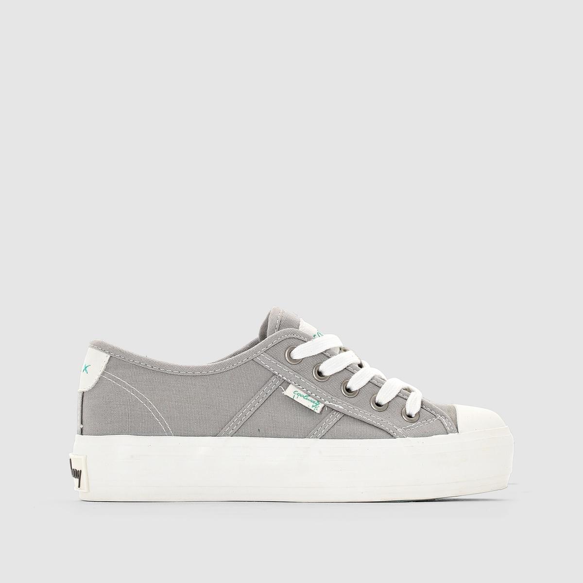 Кеды низкие на платформе, на шнуровке, DANIELAФорма мягких теннисных туфель, подчеркнутаяплатформой : еще один модный намек от марки Coolway !<br><br>Цвет: серый,черный<br>Размер: 40.41.38.37