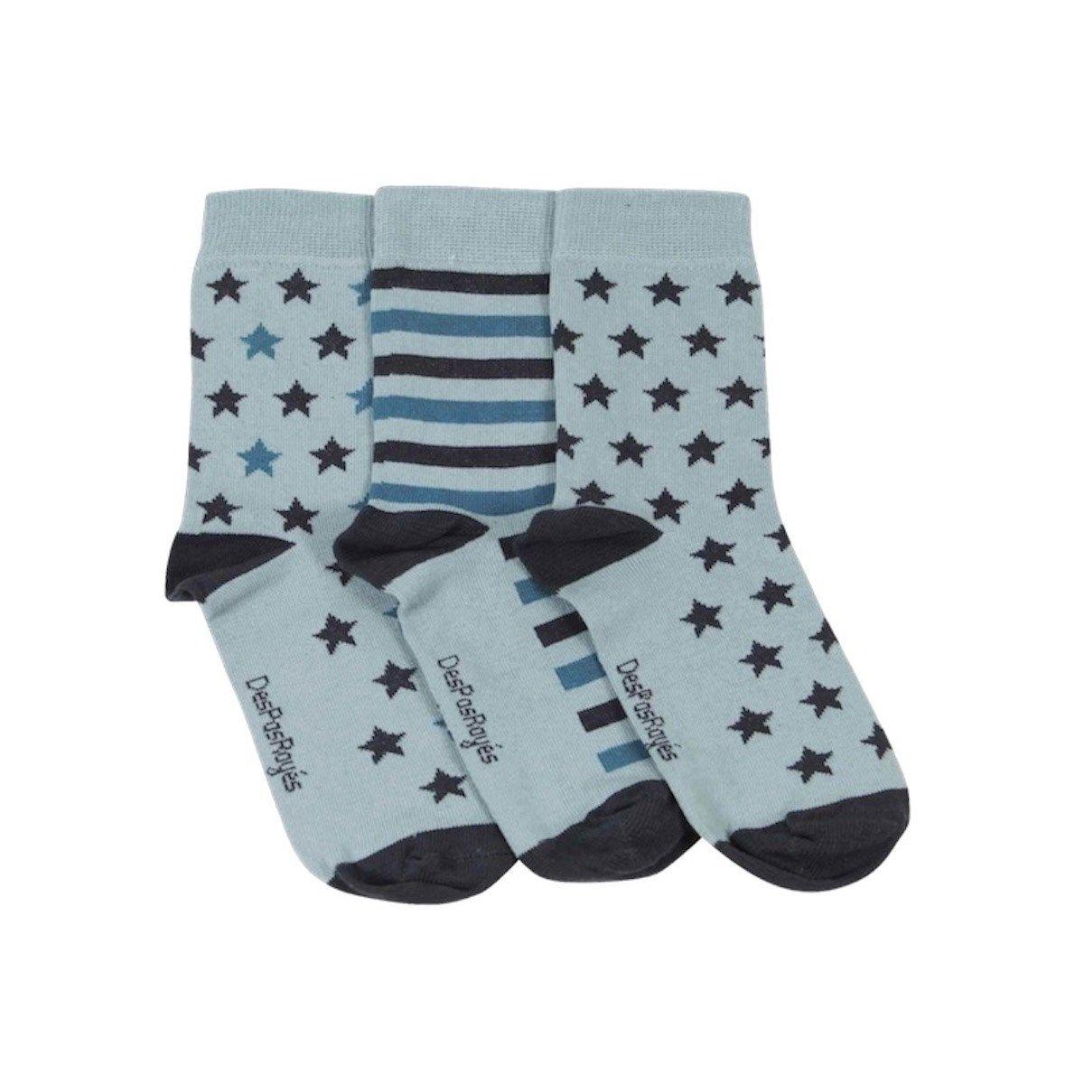Chaussettes coton étoiles menthe
