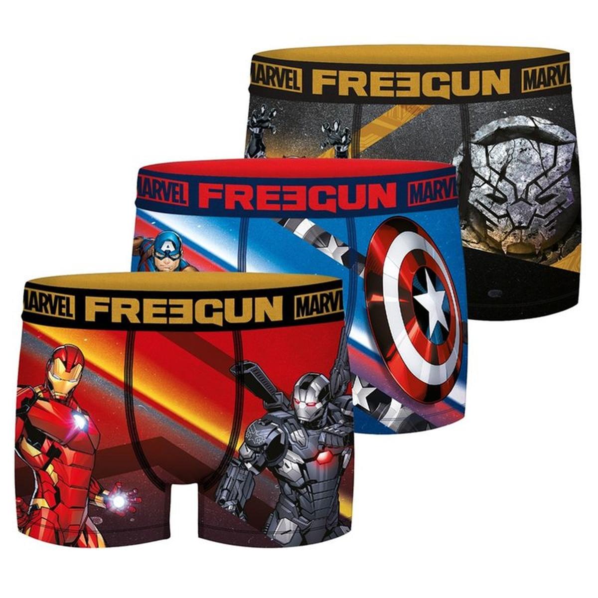 Boxers Microfibre Marvel Heroes Lot de 3