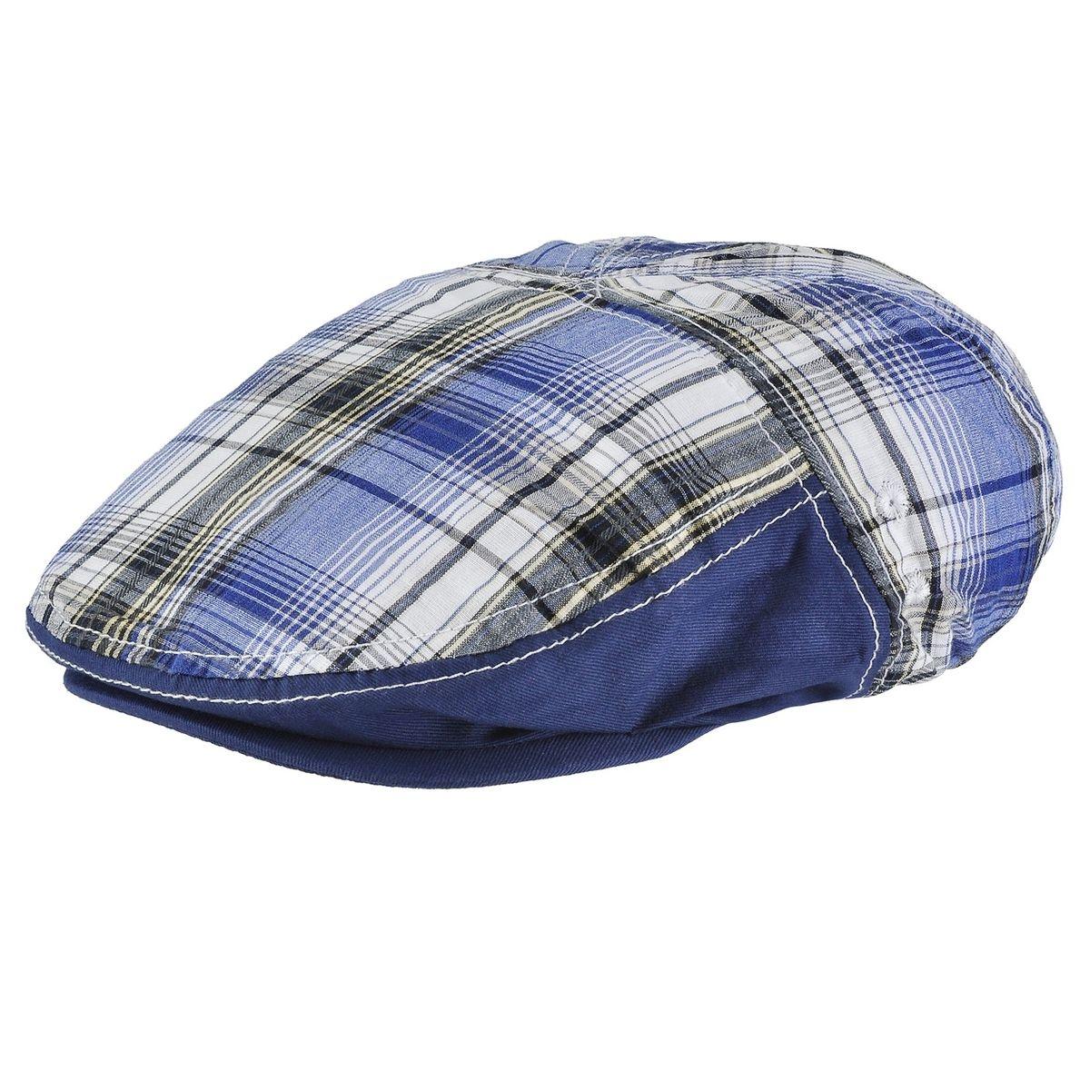Casquette plate Tartan bleu