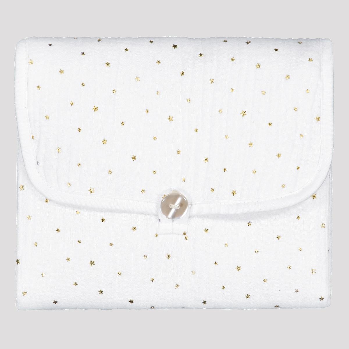 Матрас La Redoute Для пеленания из хлопчатобумажной газовой ткани Kumla со звездами единый размер белый хлопок эпохи purcotton детей клип хлопчатобумажной ткани является хорошим другом 120x150cm мешок