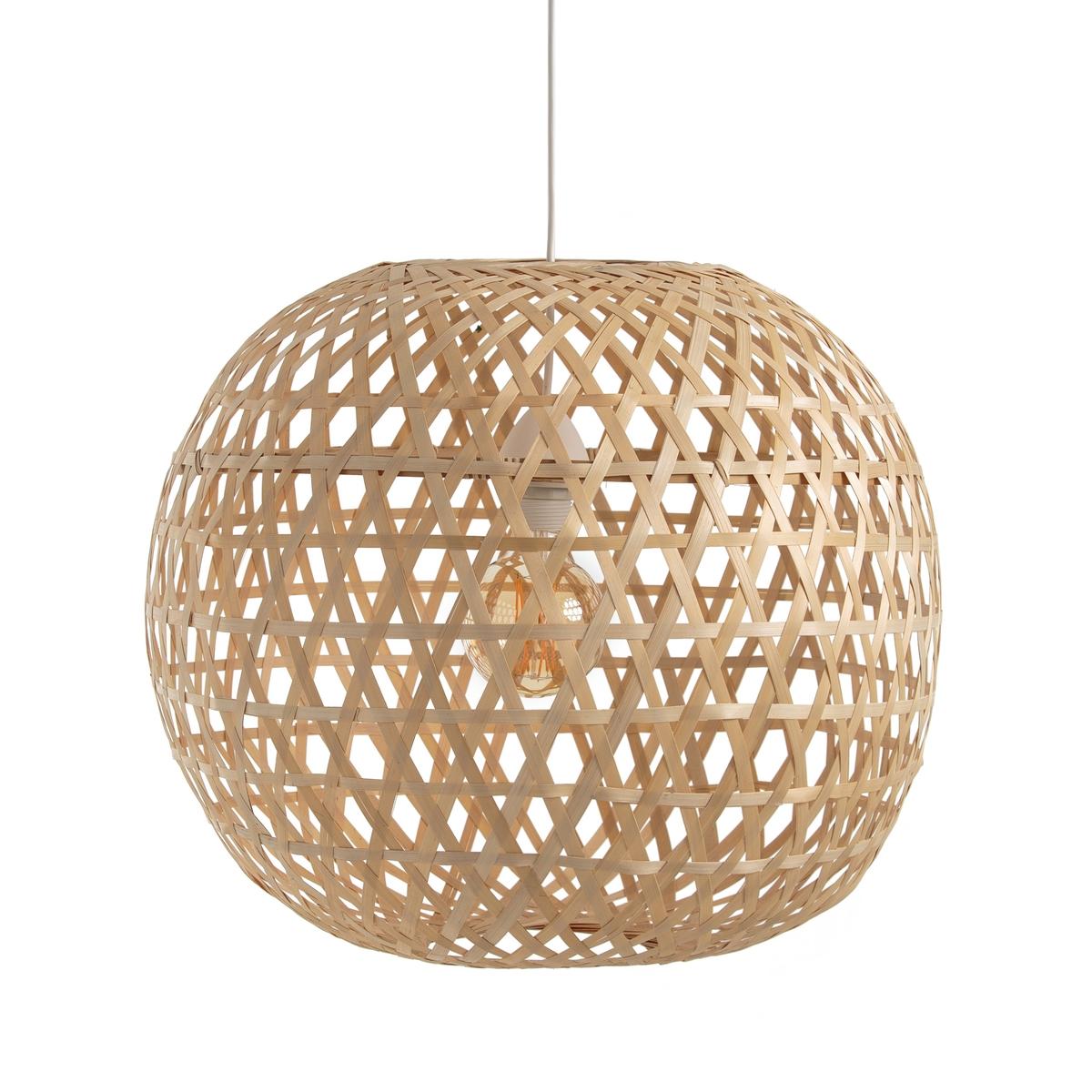 Светильник в форме шара из бамбука, CORDOСветильник-шар из натурального бамбука Cordo. Красивый плетеный светильник Cordo очень естественно рассеивает свет. Не электрифицирован.Характеристики светильника Cordo : Светильник из натурального бамбука, сплетенный вручную.Подходит для патрона E27 .Этот товар не электрифицирован, электрические провода Baulind продаются на сайте laredoute.ru.Всю коллекцию Cordo Вы найдете на laredoute.ru.Размеры светильника Cordo :Диаметр : 51 см<br><br>Цвет: серо-бежевый