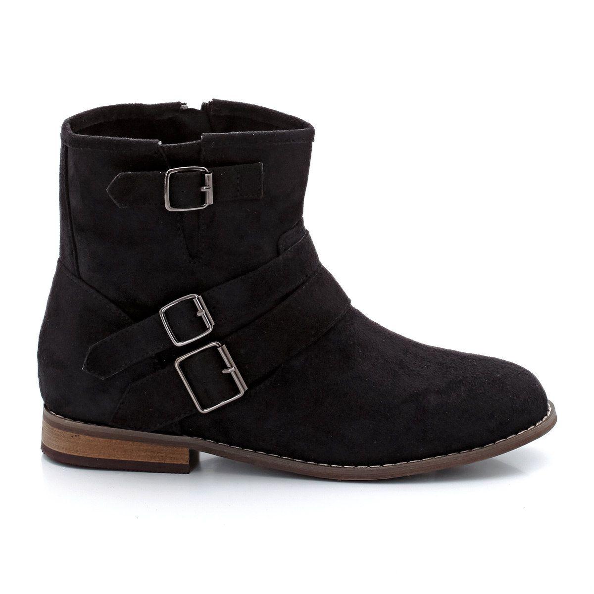 Boots zippées à boucles fantaisie