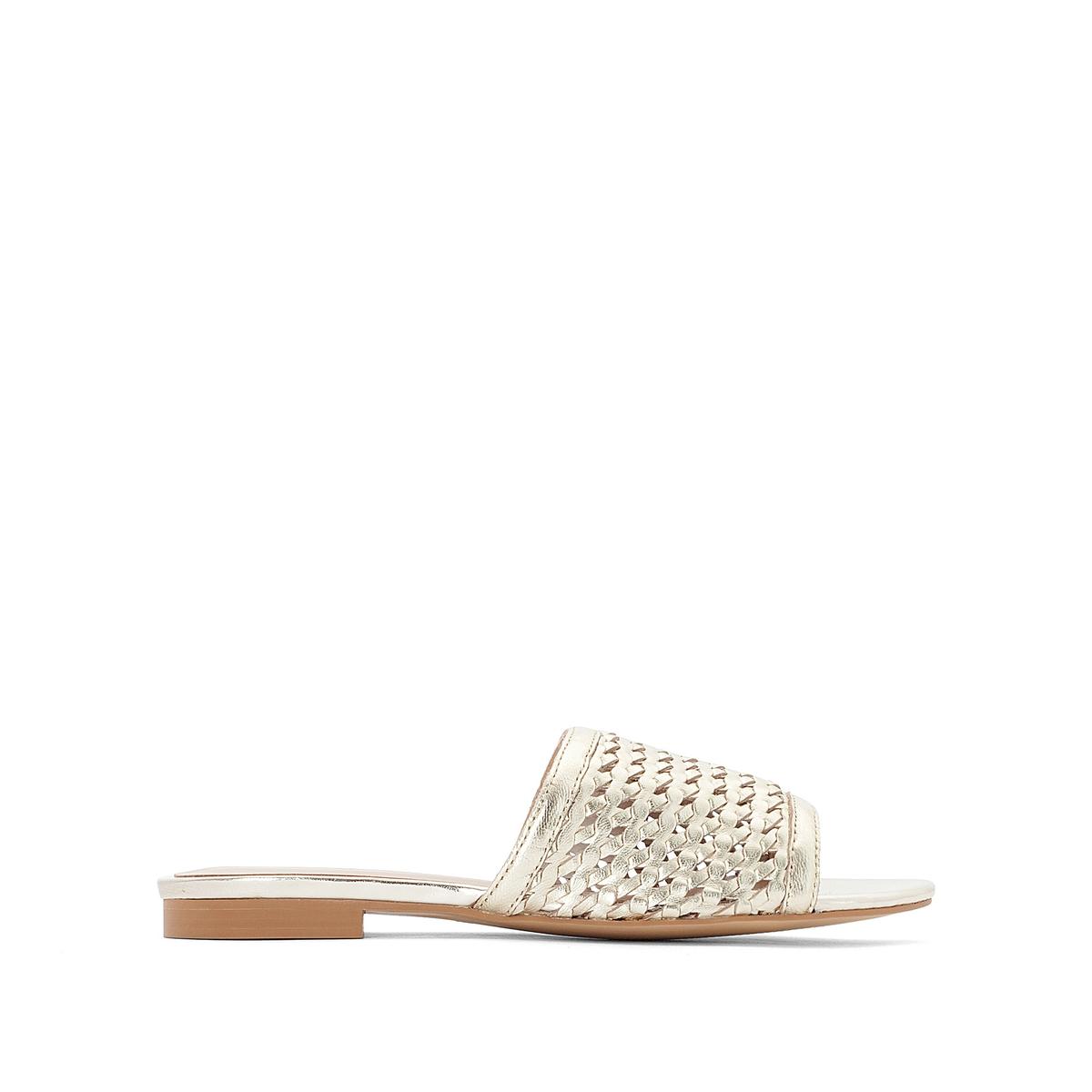 Туфли без задника из перфорированной кожи SELENA