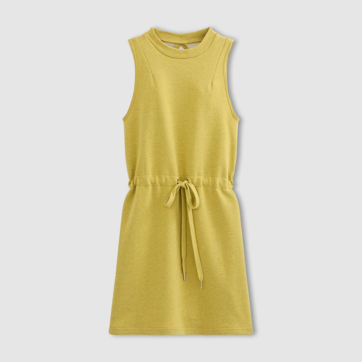 Платье без рукавовПлатье без рукавов CHEAP MONDAY. Круглый вырез. Пояс на завязках. Вырез сзади.Характеристики и описание  Mati?re        75% coton,  25% polyester Марка: CHEAP MONDAY.<br><br>Цвет: желтый<br>Размер: M