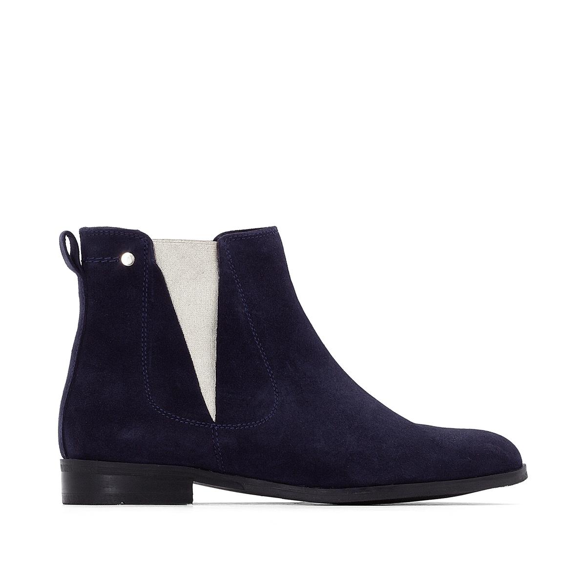 Ботинки-челси кожаные с металлизированными эластичными вставками ботинки r