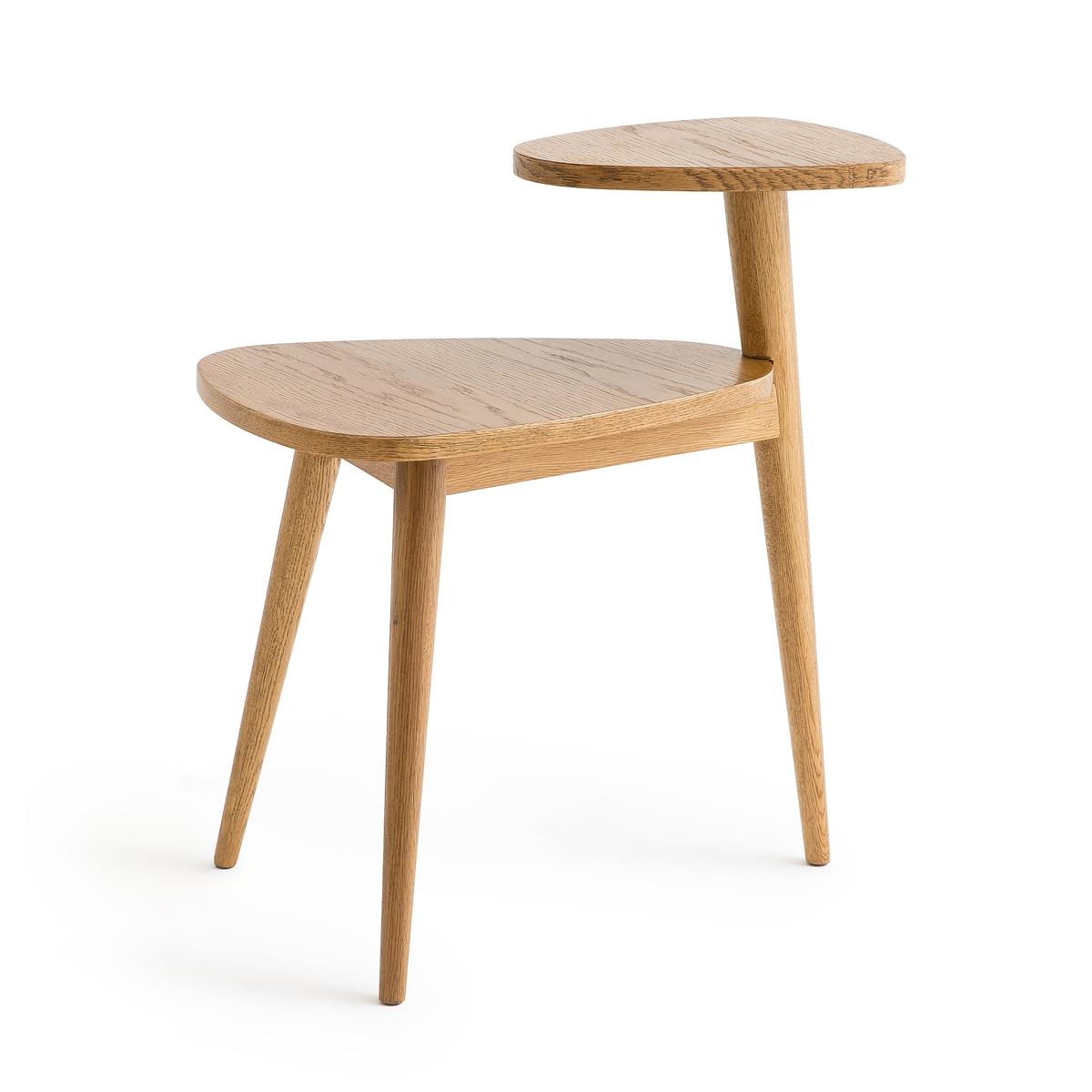 Столик La Redoute Журнальный в винтажном стиле с двумя столешницами Quilda единый размер каштановый столик журнальный в винтажном стиле из обыкновенного дуба quilda