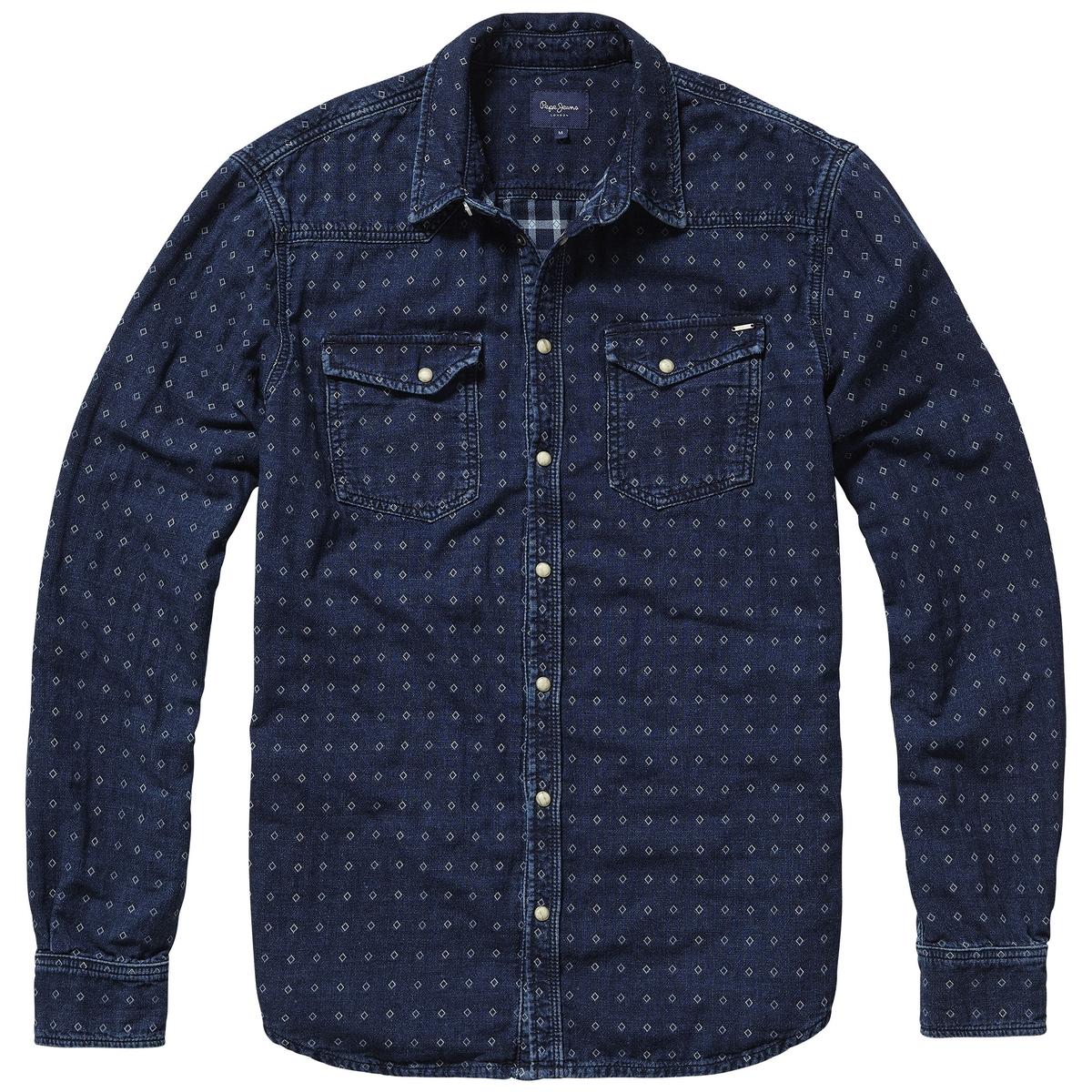 Рубашка в клетку с длинными рукавами от La Redoute