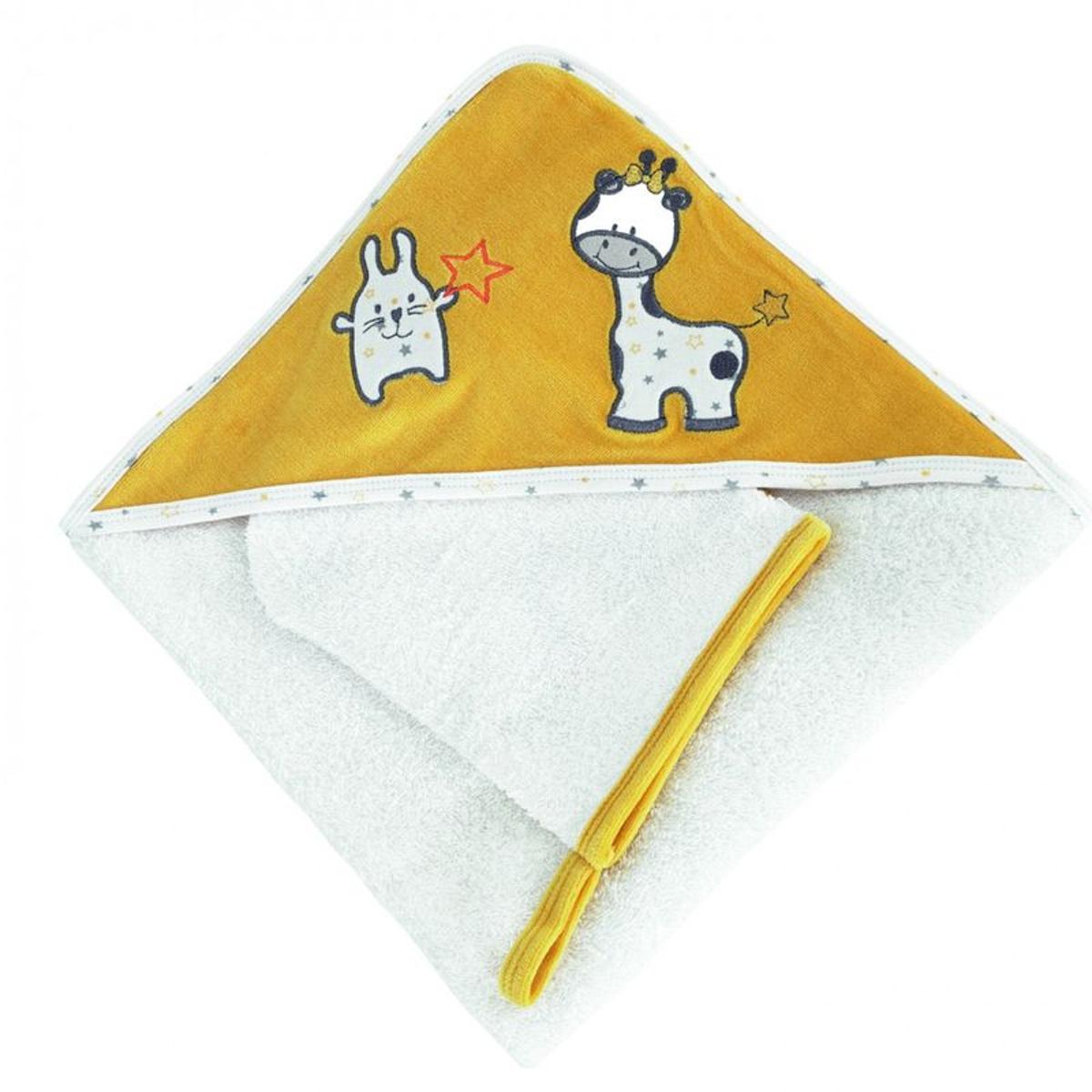 Cape de bain bébé - Avec gant de toilette   Melle Uche