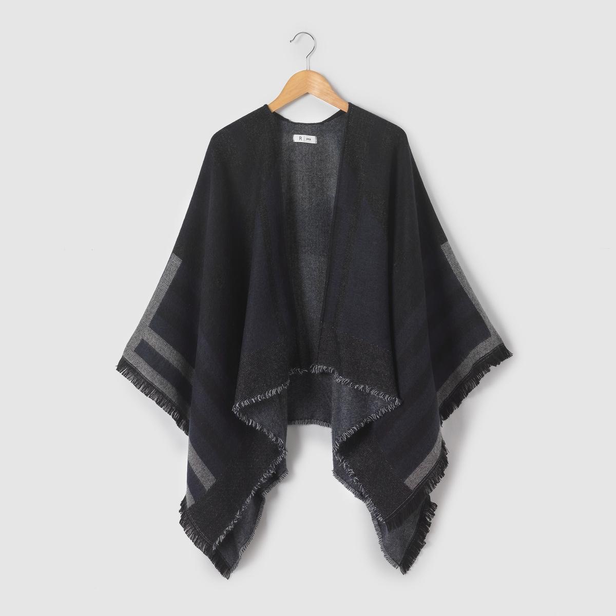 Кардиган-пончо единого размера пальто пончо большого размера