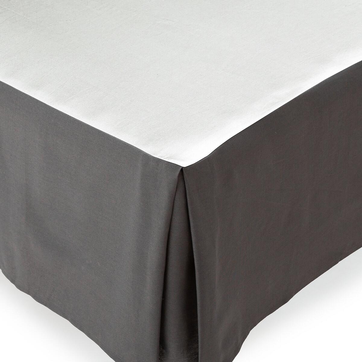 Наматрасник LaRedoute На кроватное основание 100 биохлопок Akao 180 x 200 см серый кровать laredoute numa 160 x 200 см серый