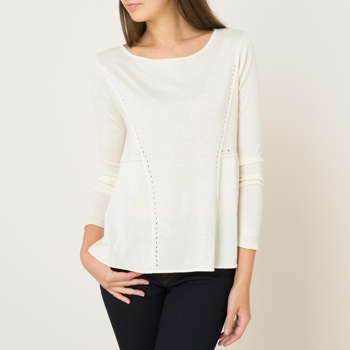 Пуловер из шерсти и шелка YEARСостав и описание    Материал : 70% шелка, 30% кашемира   Марка : BA&amp;SH<br><br>Цвет: экрю