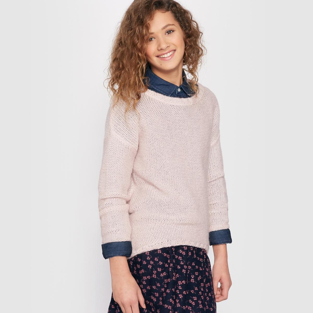 Пуловер удлиненный сзади на 10-16 лет от La Redoute Collections