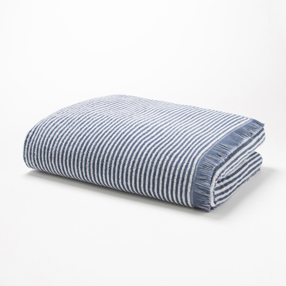 Полотенце La Redoute Банное в полоску из махровой ткани HARMONY 70 x 140 см синий