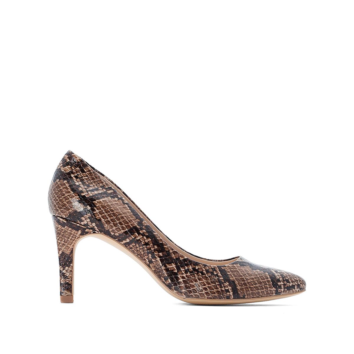 Туфли La Redoute На высоком каблуке с принтом питон 40 каштановый туфли la redoute на среднем каблуке с питоновым принтом 36 каштановый