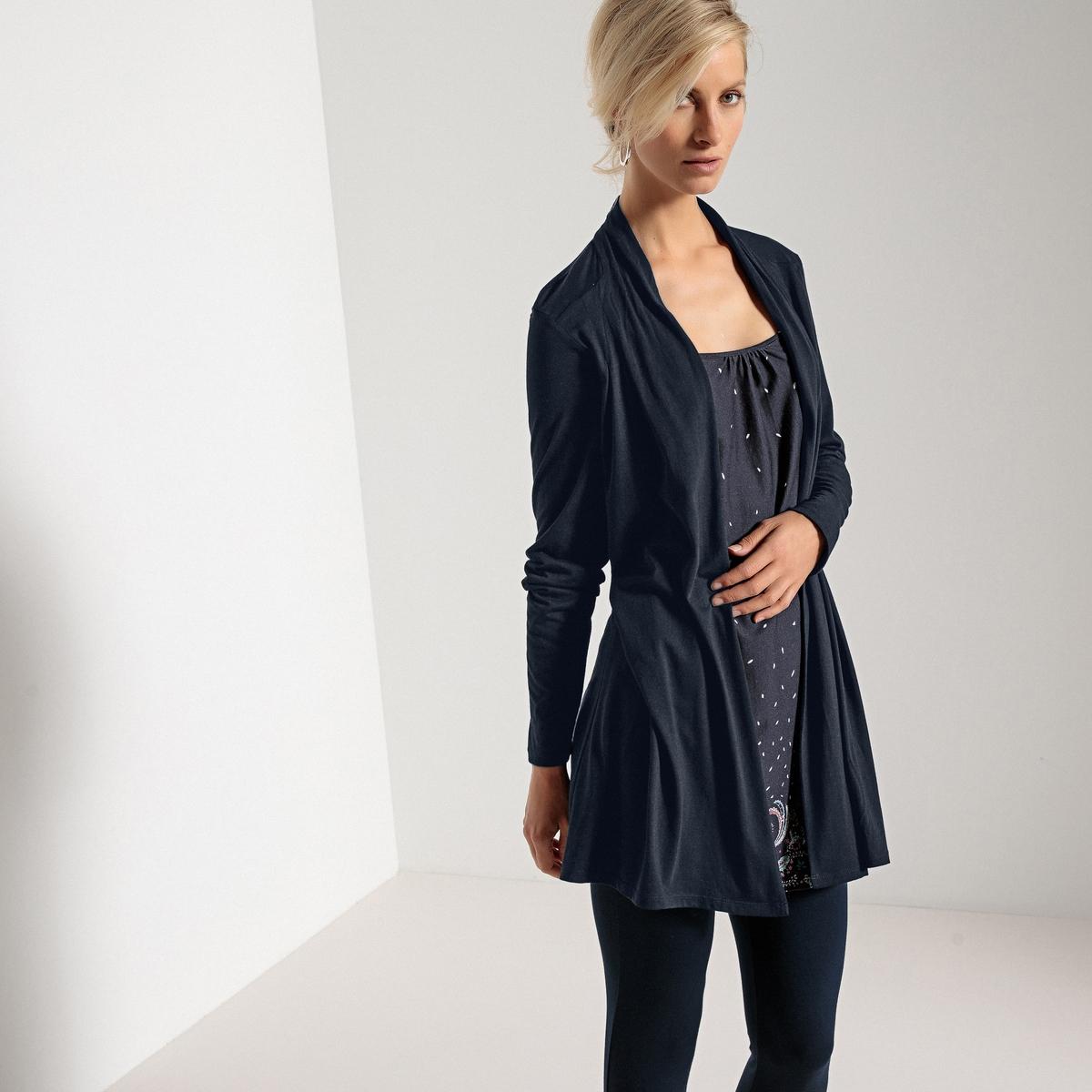 Imagen secundaria de producto de Camiseta 2 en 1, con cuello chal y estampado, de manga larga - Anne weyburn