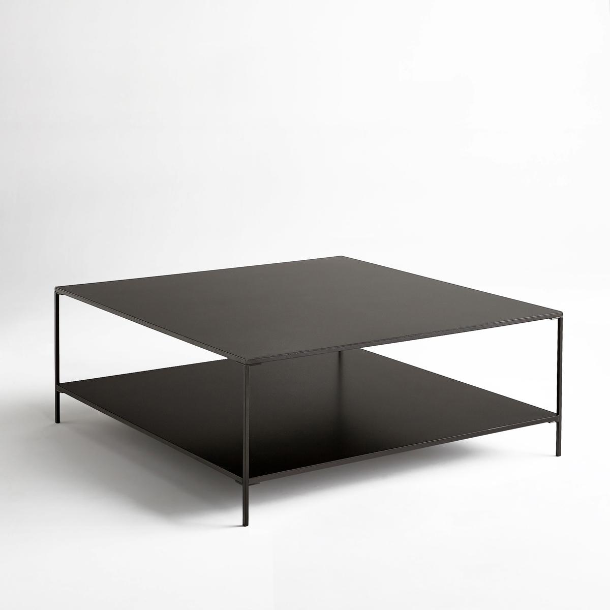 Столик La Redoute Журнальный квадратный из металла Yram единый размер серый
