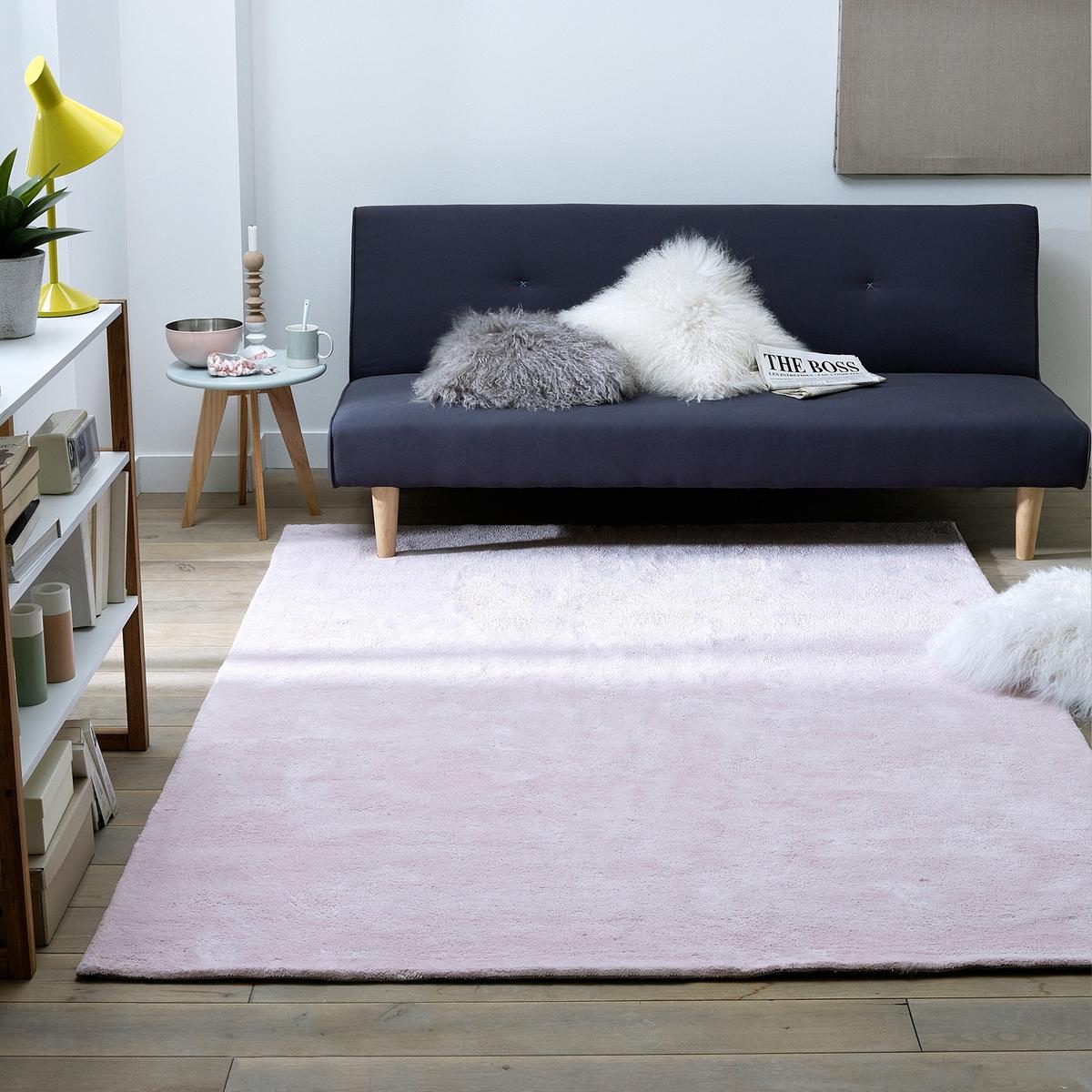 цена Ковер La Redoute С ворсом из хлопка Renzo 200 x 290 см розовый онлайн в 2017 году