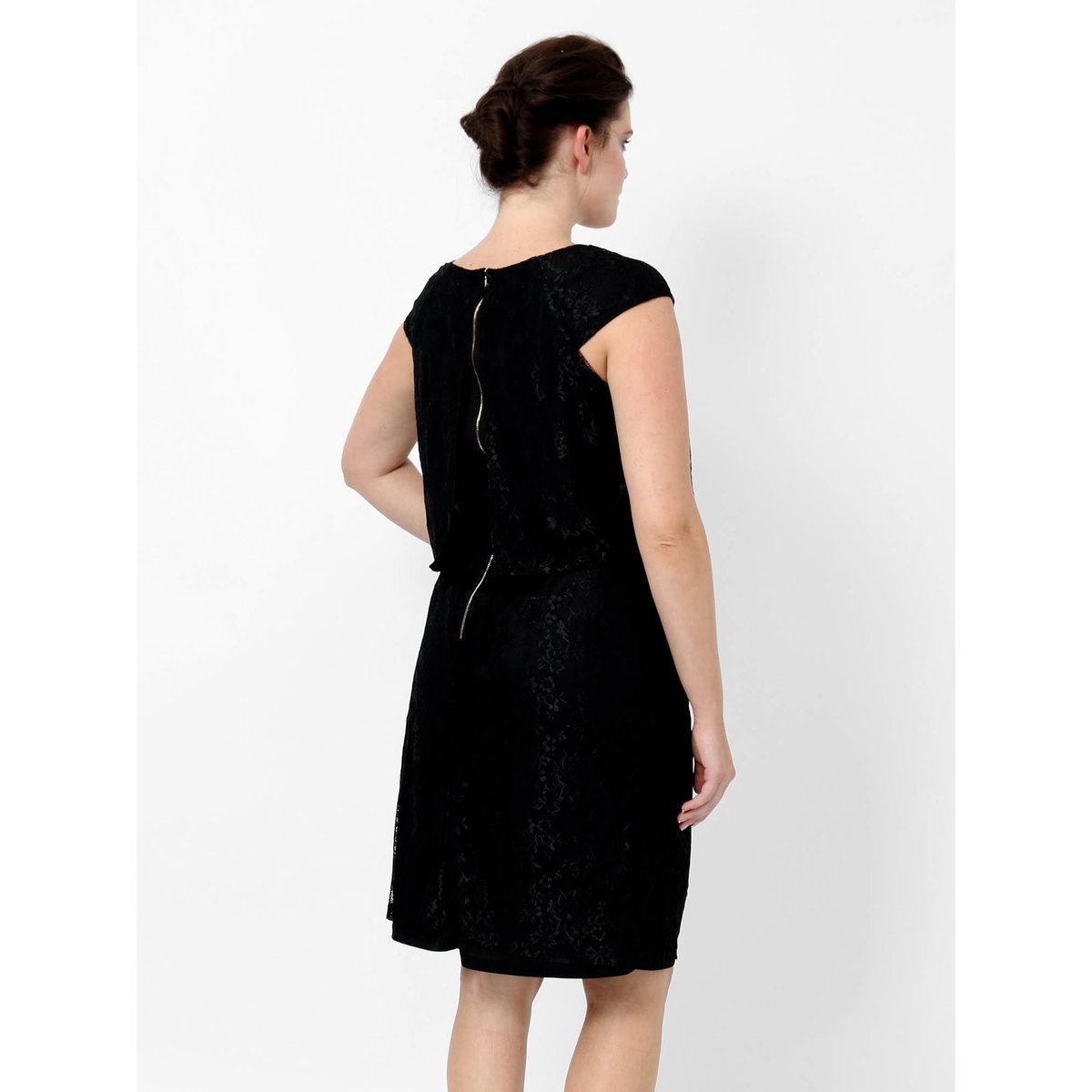 Платье длинноеПлатье без рукавов LOVEDROBE. Застежка на молнию сзади. Длина ок. 102 см.. 100% полиэстера<br><br>Цвет: черный<br>Размер: 48 (FR) - 54 (RUS)