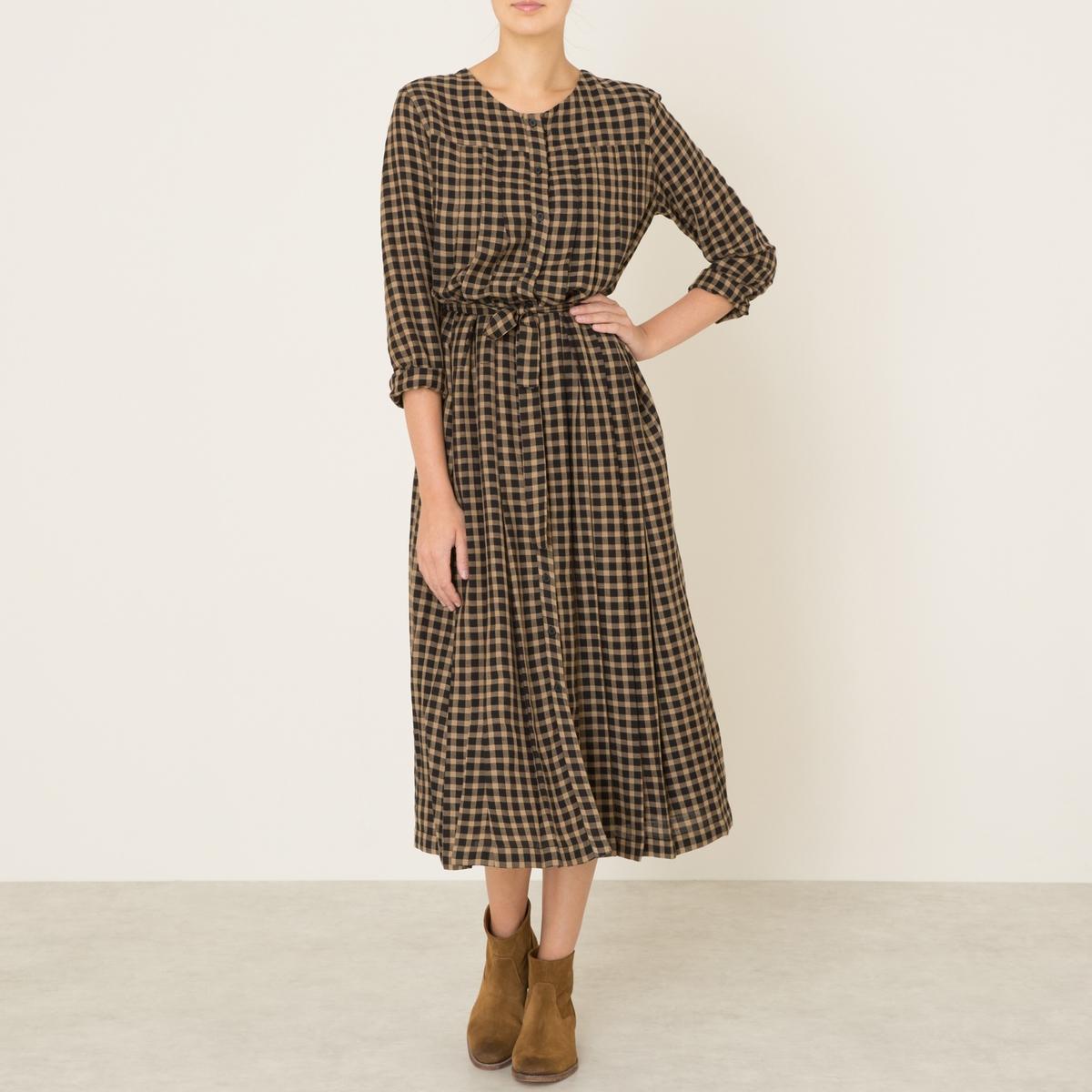 Платье длинное LOTUSСостав и описание Материал : 70% хлопка, 30% шерстиМарка : LAURENCE BRAS<br><br>Цвет: черный/ бежевый<br>Размер: XS.M