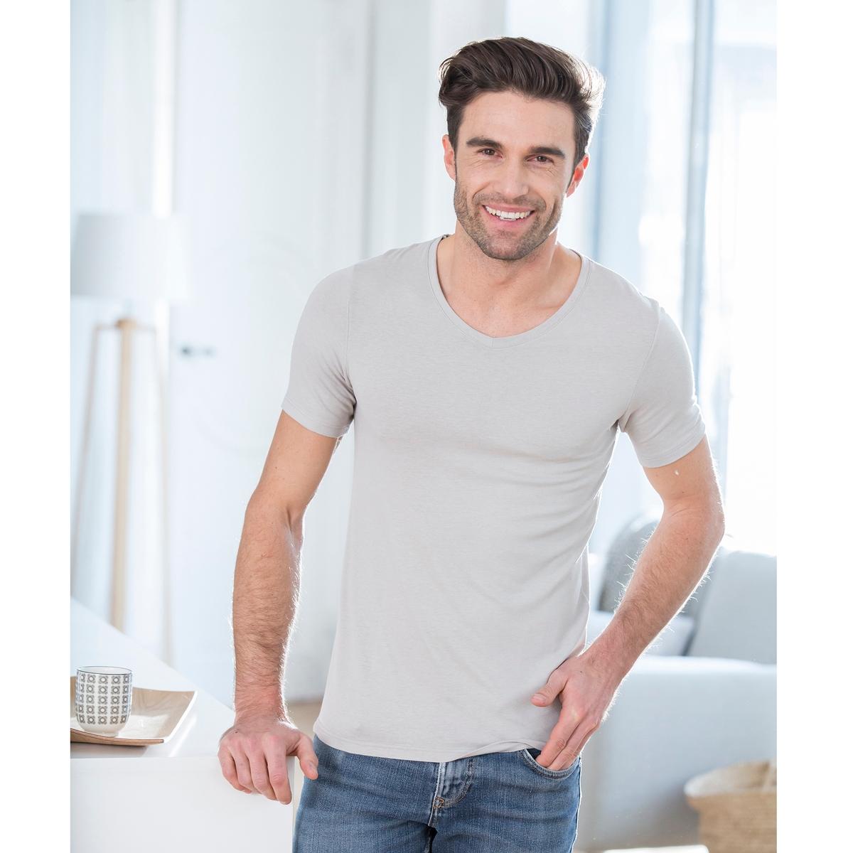 T-shirt scollo a V Thermolactyl in microfibra