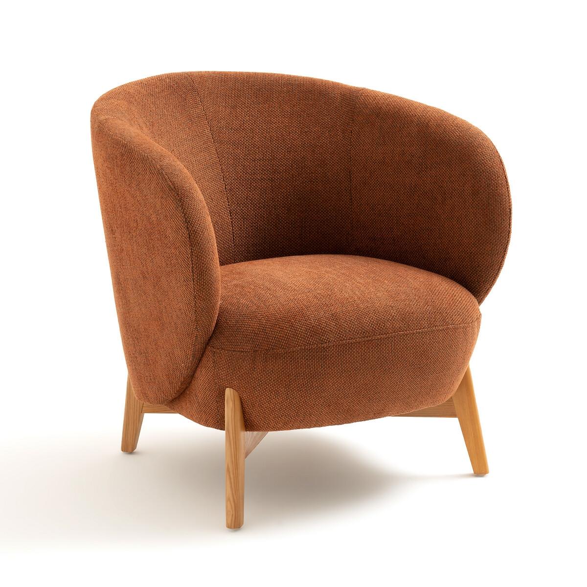 Кресло LaRedoute С подлокотниками ушки Lancy единый размер каштановый