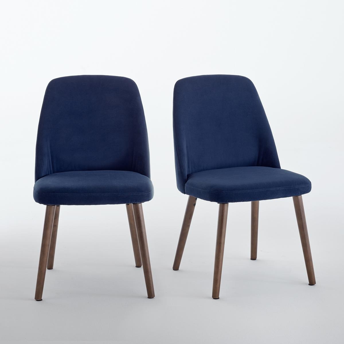 2 стула из велюра и орехового дерева, WATFORD2 стула, велюр и ореховое дерево, Watford. Охватывающая и эргономичная форма для комфорта, очень стильный дизайн, стулья Watford придадут исключительности вокруг стола.Характеристики стула с обивкой из велюра, Watford :Охватывающая эргономичная форма.Обивка спинки и сиденья из велюра 100% полиэстер.Наполнитель из вспененного полиуретана для спинки (25 кг/м?), для сиденья (28 кг/м?).Ножки из массива бука, под орех, покрытие нитролаком.Для оптимального качества и устойчивости рекомендуется надежно затянуть болты. Откройте для себя всю коллекцию Watford на сайте laredoute.ru.Размеры стула с обивкой из велюра Watford :Общие :Длина : 48 см.Высота : 82,5 смГлубина : 55,5 смСиденье :Высота : 45,5 смРазмеры и вес упаковки :1 коробкаШир. 58 x Выс. 56 x Гл. 44,5 см17 кгДоставка :Стулья Watford продаются в разобранном виде.Возможна доставка до квартиры по предварительному согласованию !Внимание ! Убедитесь, что дверные, лестничные и лифтовые проемы позволяют осуществить доставку коробки таких габаритов .<br><br>Цвет: темно-синий