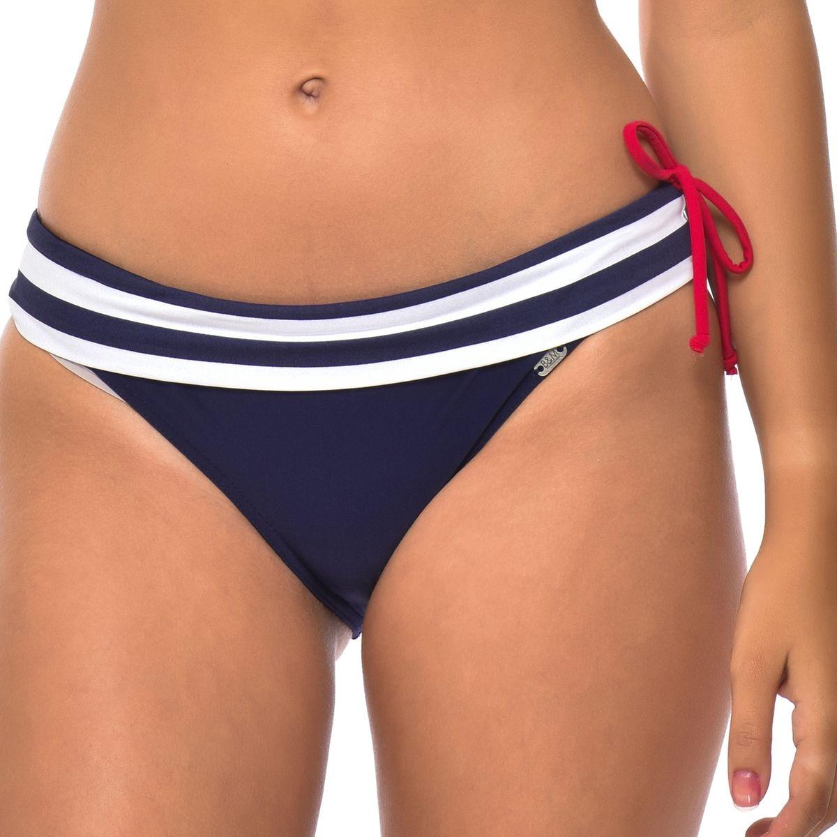 Bas de maillot de bain culotte bikini a rayures