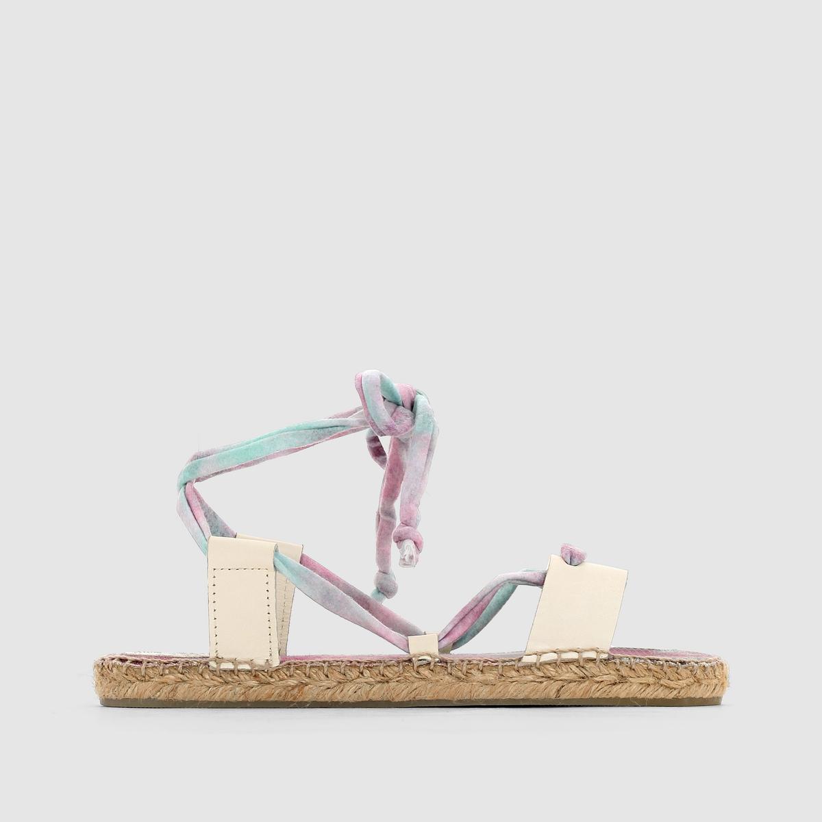 Эспадрильи из текстиля и кожи, на шнуровке, CHRIS
