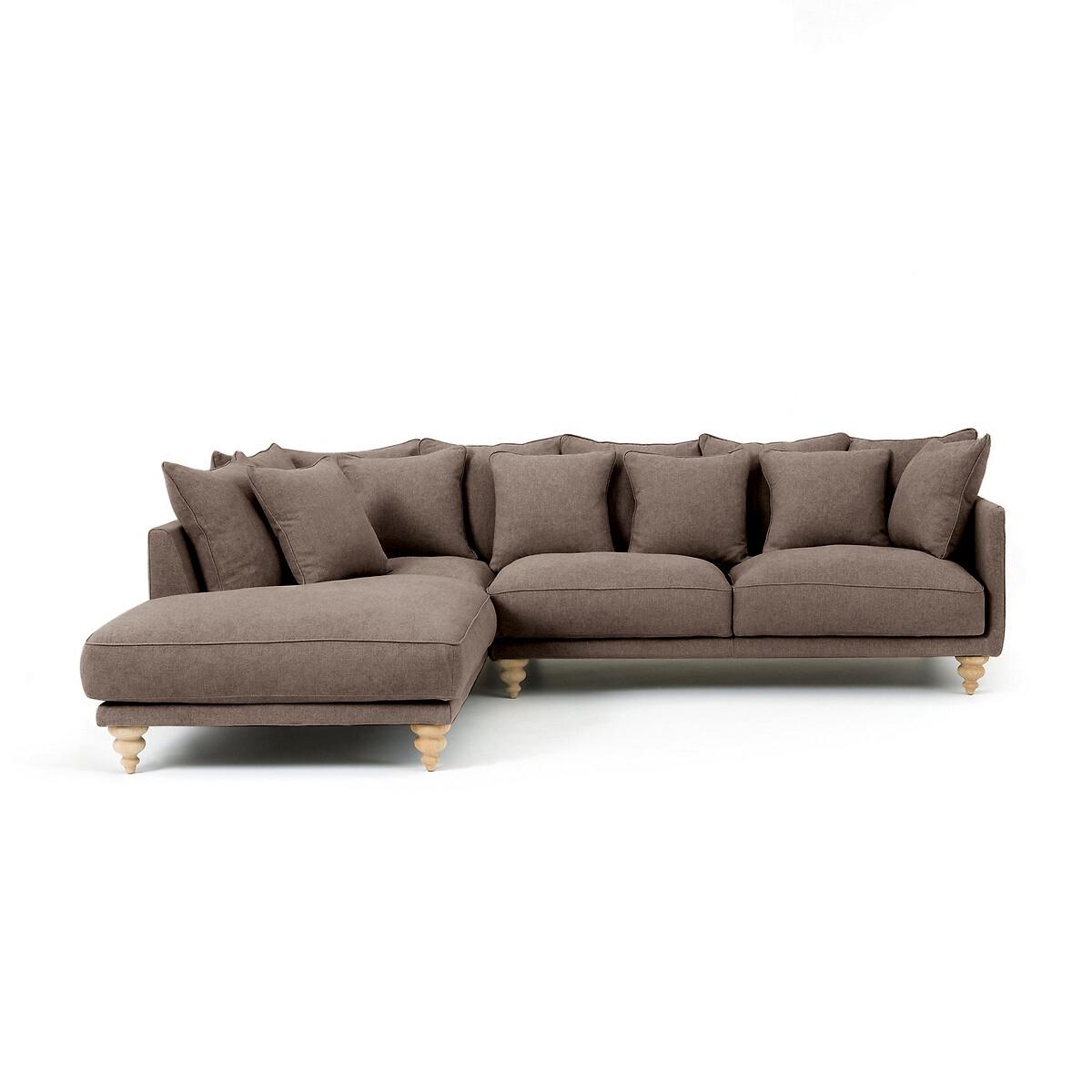 Canapé d'angle Beige Tissu Luxe Contemporain Confort