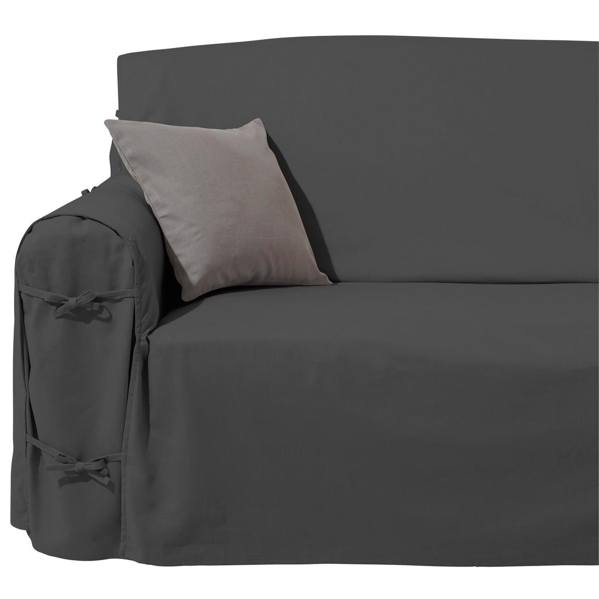 Чехол для диванаХарактеристики чехла для дивана:Практичный чехол для дивана, регулируется завязками. Красивая плотная ткань, 100% хлопок (220 г/м?).Обработка против пятен.Простой уход : стирка при 40°, превосходная стойкость цвета.Размеры чехла для дивана:Общая высота: 102 см.Глубина сиденья: 60 см.Высота : подлокотник 66 см.3 модели на выбор : - 2-местн. : шир.142 см макс.,- 2-3 местн. : шир. 180 см макс.,- 3-местн. : шир. 206 см макс..Сверьте размеры перед заказом !Качество VALEUR S?RE.Сертфикат Oeko-Tex® дает гарантию того, что товары изготовлены без применения химических средств и не представляют опасности для здоровья человека  .<br><br>Цвет: антрацит,облачно-серый,рубиново-красный,серо-коричневый каштан,сине-зеленый<br>Размер: 2 места.2/3 мест.2 места
