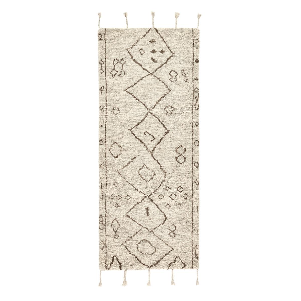 Дорожка La Redoute Ковровая для коридора в берберском стиле из шерсти Padma 80 x 200 см бежевый ковер la redoute в берберском стиле из шерсти tekouma 120 x 180 см бежевый