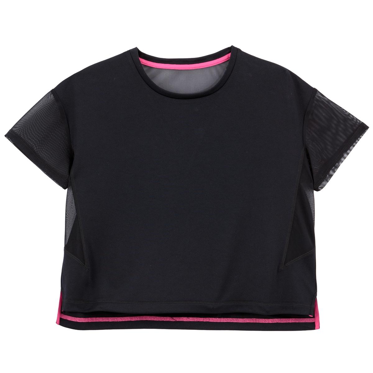 T-shirt cropped de mangas curtas, 10-18 anos
