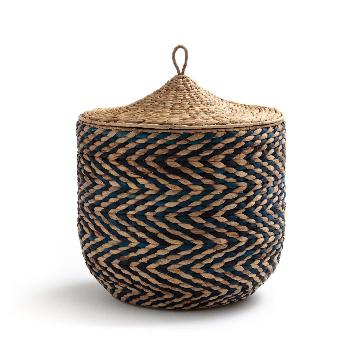 Корзина плетеная с крышкой, NOMADO