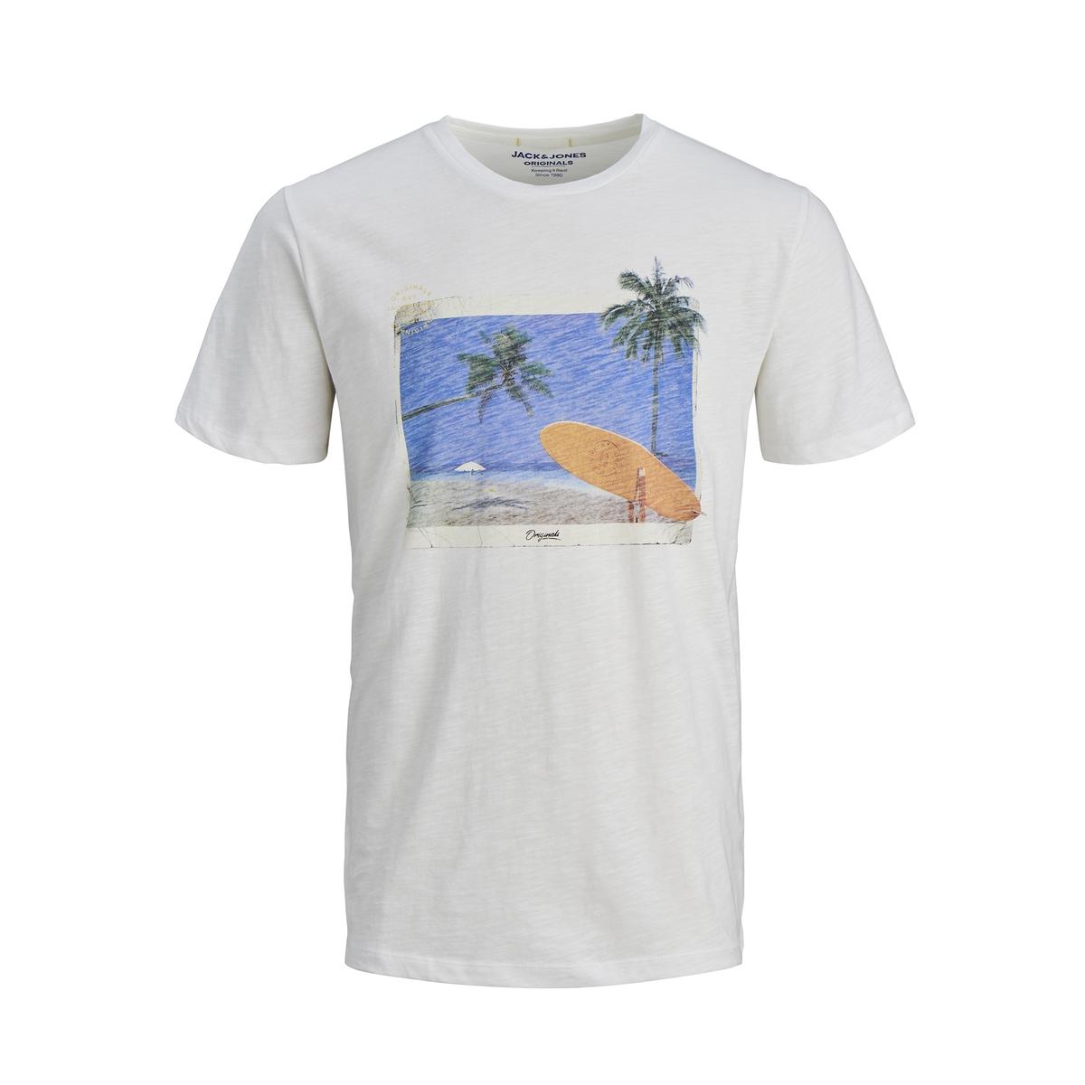 Футболка La Redoute С рисунком спереди 10 лет - 138 см белый футболка la redoute с вышитым рисунком спереди 10 лет 138 см серый