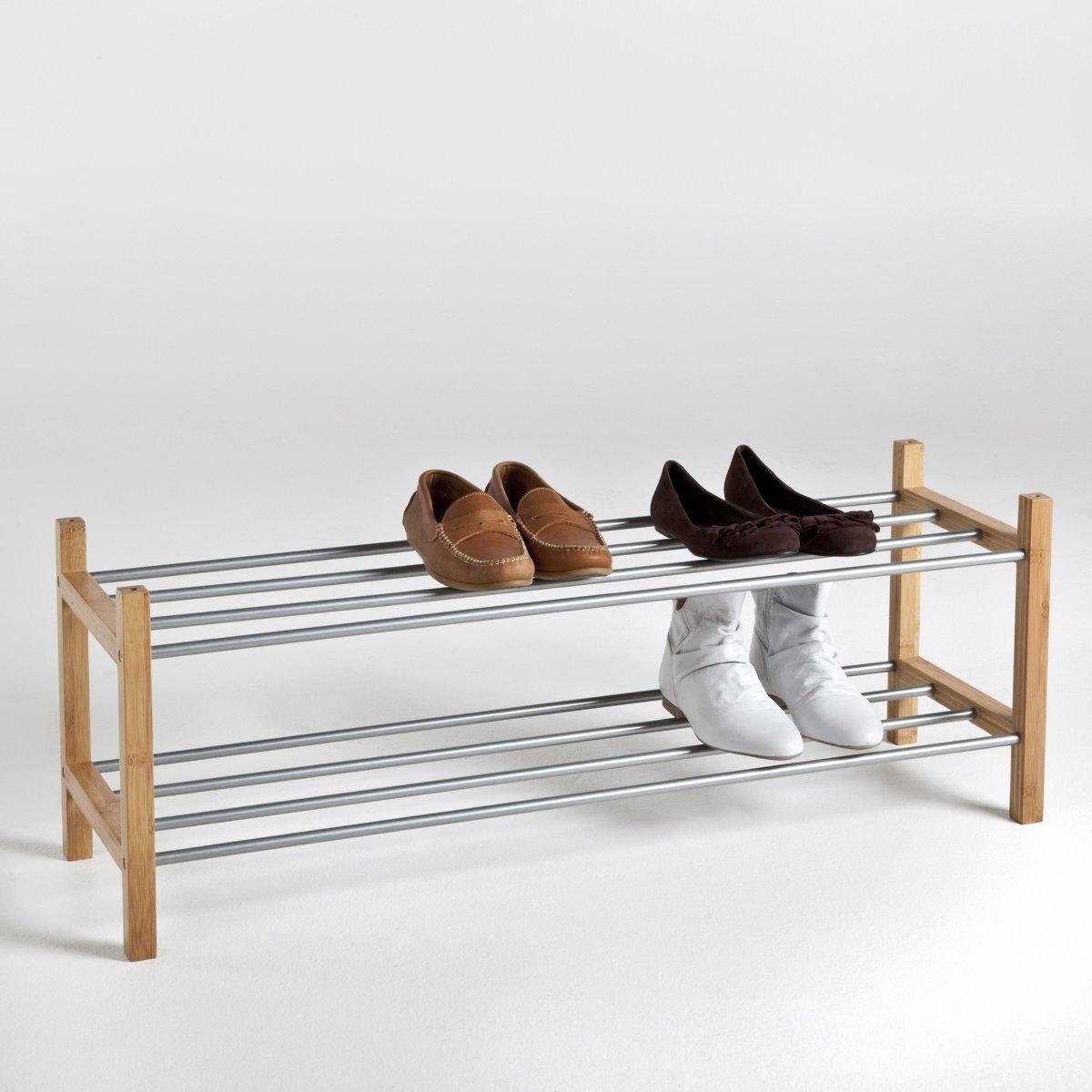 Стеллаж для обуви из металла и бамбука, BAMBOOХарактеристики стеллажа для обуви BAMBOO:- Выполнен из металла с эпоксидным покрытием и бамбука с бесцветным покрытием.Описание стеллажа для обуви BAMBOO:- Ставятся один на другой.- Позвляет хранить до 12 пар обуви.Готов к сборке в соответствии с прилагающейся инструкцией.Размеры:- Общие: Д. 100 x В. 37 x Г. 30 см.<br><br>Цвет: светлое дерево натуральный