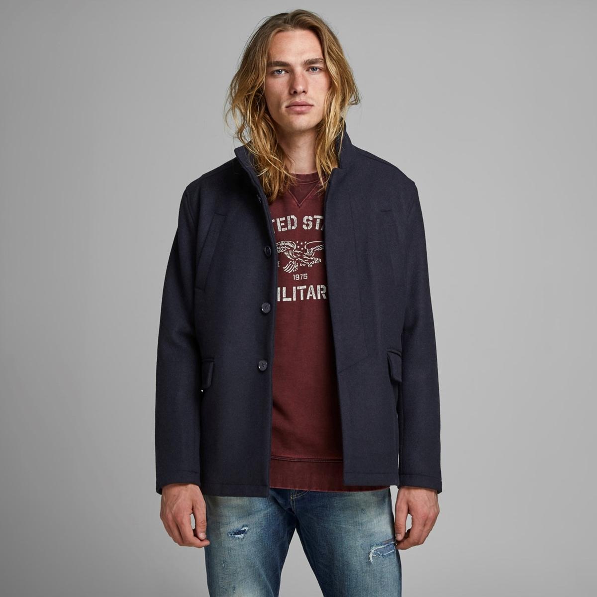 Пальто La Redoute Утепленное с воротником-стойкой Jprcool S синий