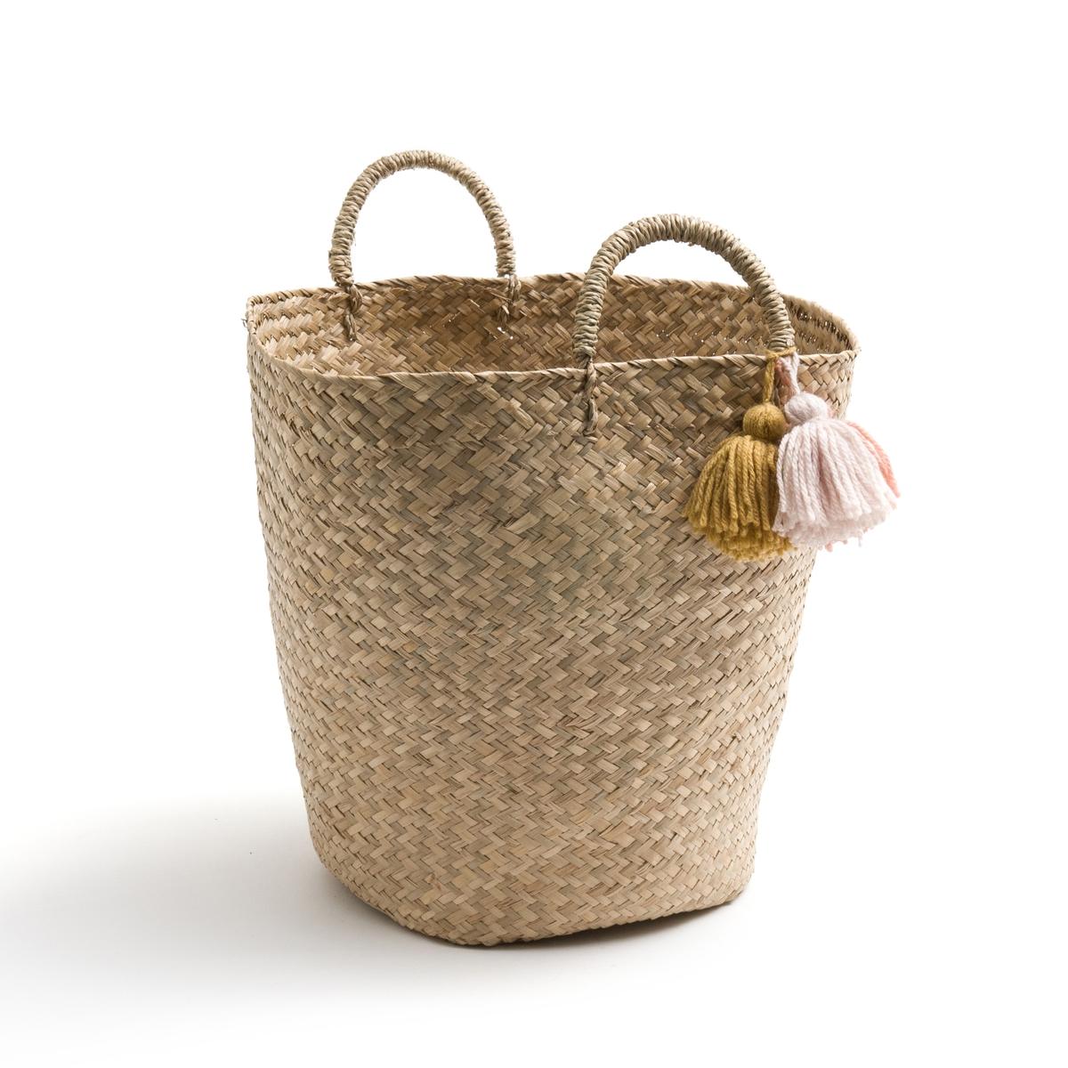 Корзина с помпонами, IKOYAХарактеристики корзины с помпонами Ikoya : Корзина из морского камыша, ручное производство.2 ручки.С цветными помпонами из шерсти.В виду того, что корзина Ikoya выполнена вручную, её размеры могут отличаться на +/- 2 см от заявленных ниже.Всю коллекцию декора для дома Вы найдете на laredoute.ru Размеры корзины с помпонами Ikoya :Диаметр : 32 смВысота : 35 см<br><br>Цвет: разноцветный