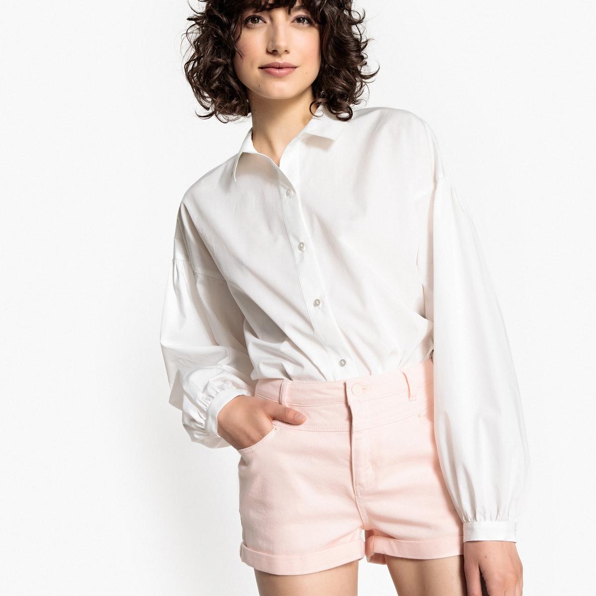 Рубашка свободного покроя с длинными рукавами с напуском цена 2017