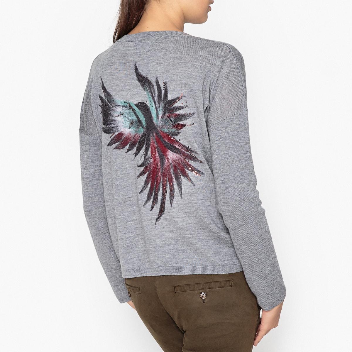Пуловер с V-образным вырезом из шерсти мериноса TIBO