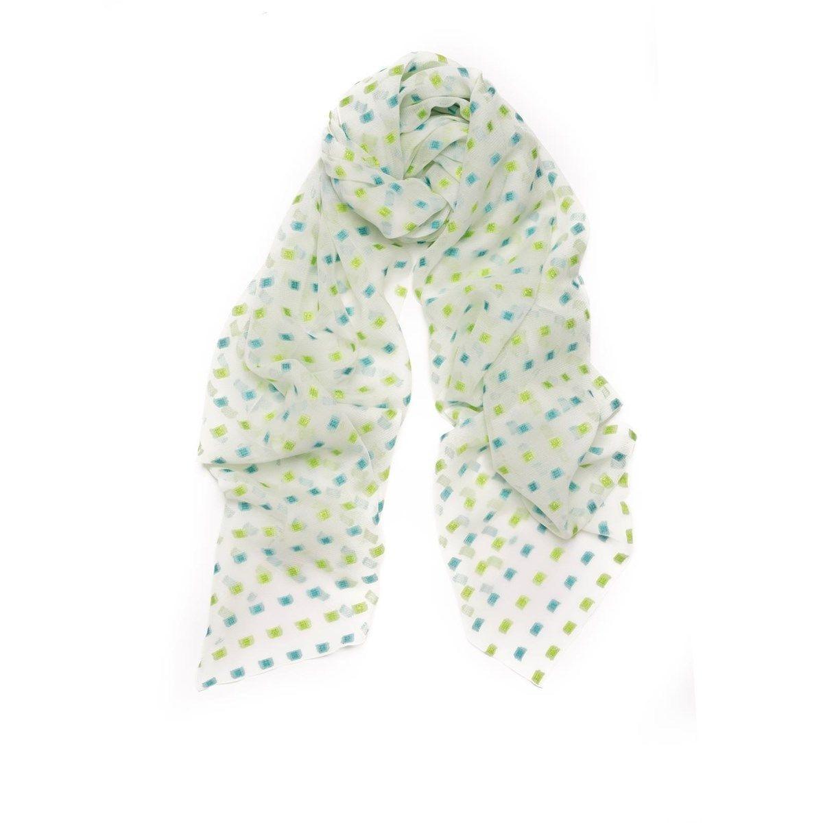Foulard en mousseline de soie et Fil textile® Fugue