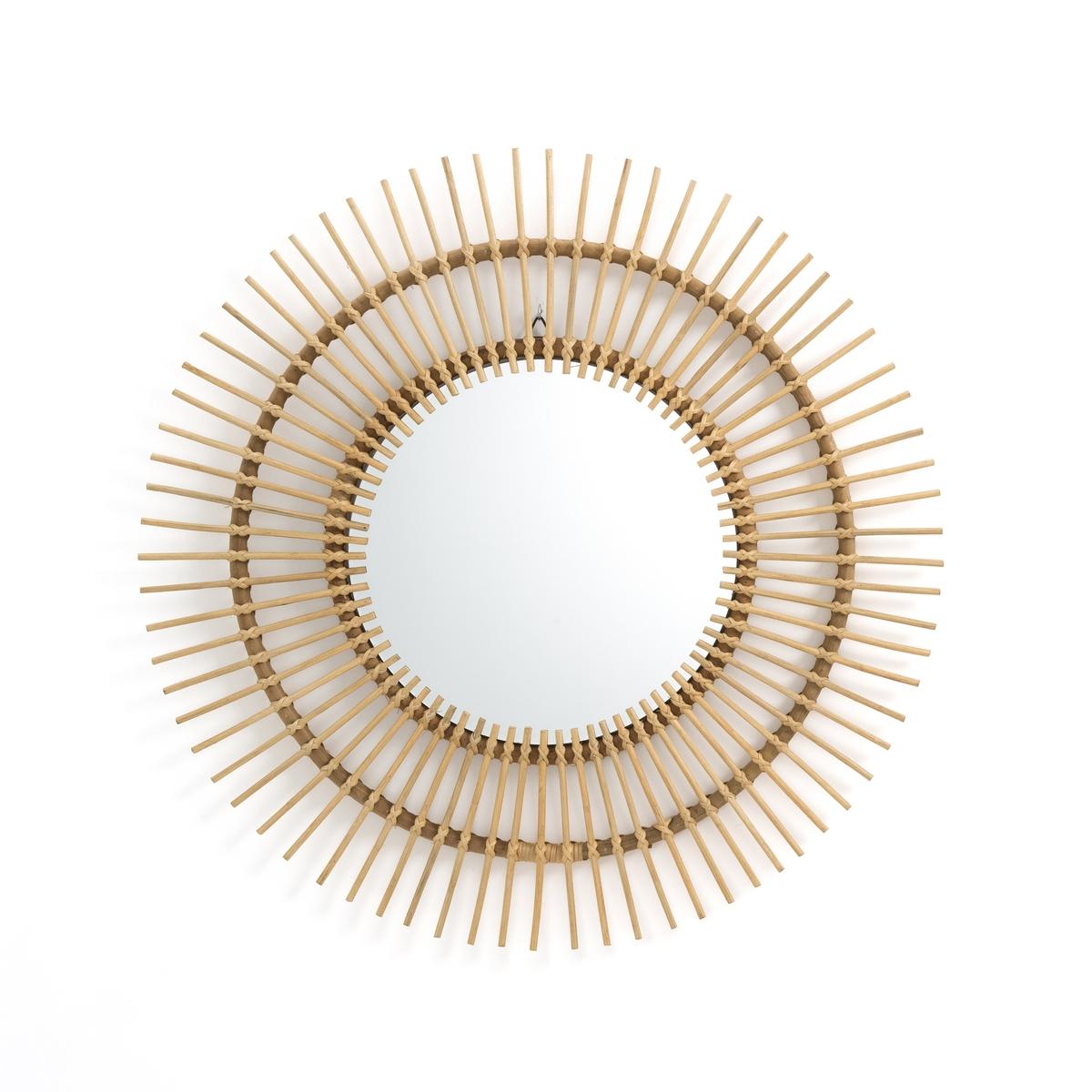 Зеркало La Redoute Из ротанга в форме солнца см Nogu единый размер бежевый