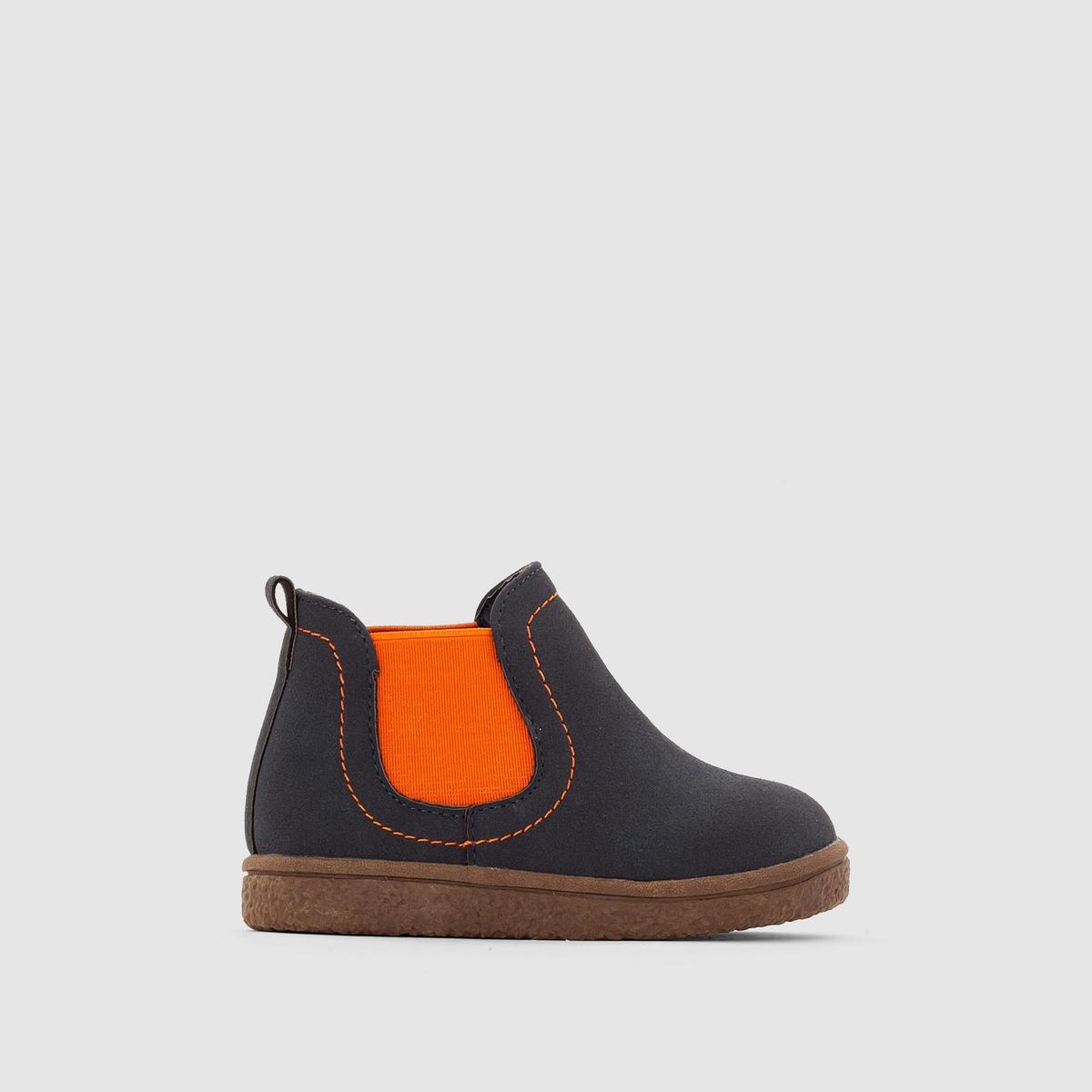 Ботинки двухцветные в стиле челси